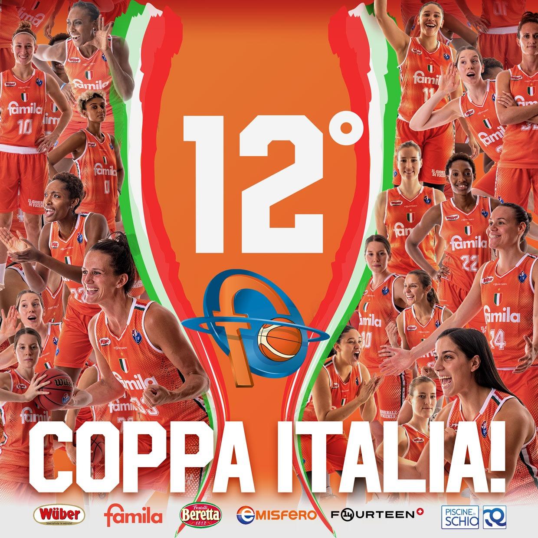 La coppa Italia 2021 è delle ragazze del Famila Wuber Schio