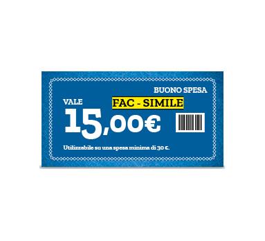 9392297dd745 Famila   Buono spesa da 15 euro